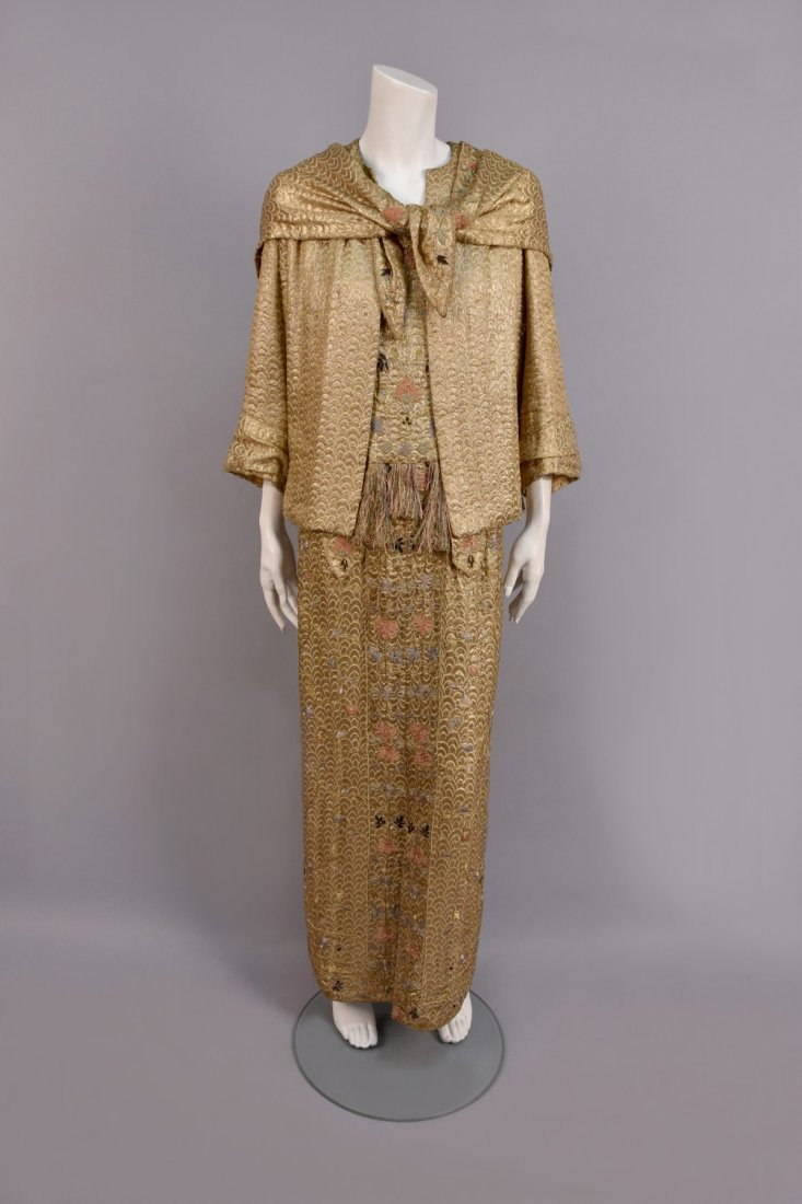 SUZANNE TALBOT METALLIC EVENING ENSEMBLE, c. 1930
