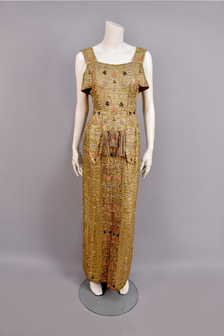 SUZANNE TALBOT METALLIC EVENING ENSEMBLE, c. 1930 - 2