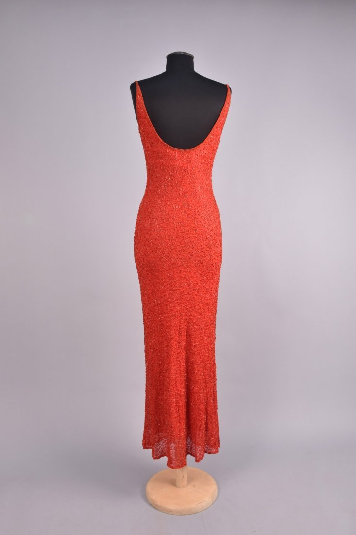 BEADED CHIFFON EVENING GOWN, 1930s - 2