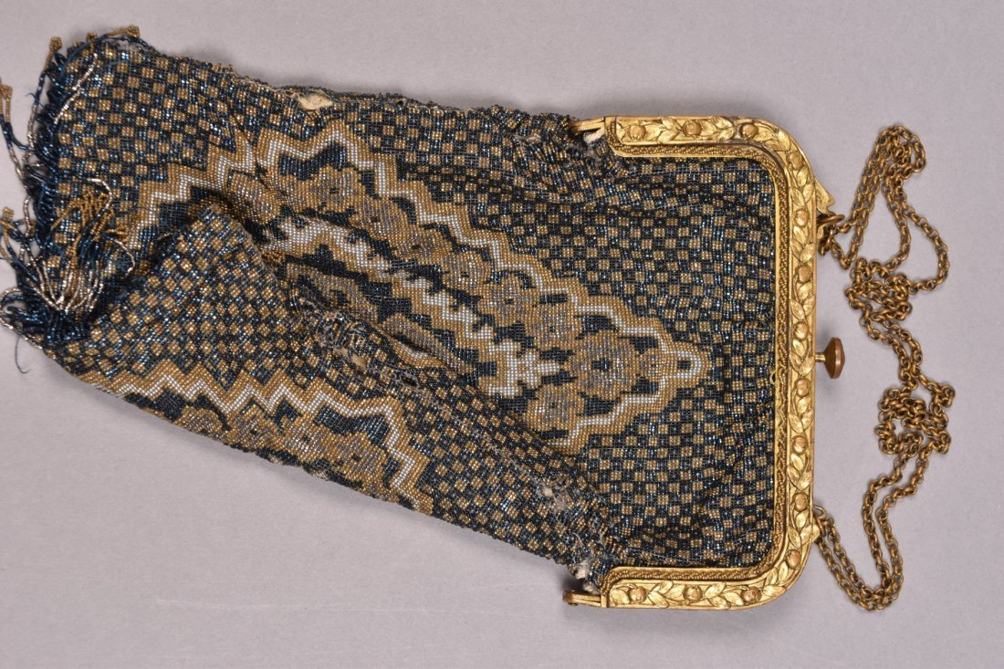 TWO FRENCH MICRO STEEL BEADED BAGS, EARLY 20th C. - 3