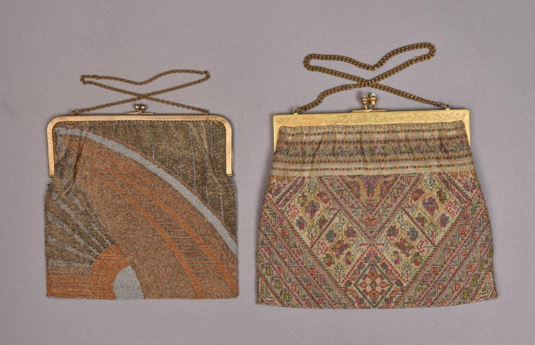 FRENCH ART DECO MICRO-STEEL BEADED BAG, 1920s - 1930s.
