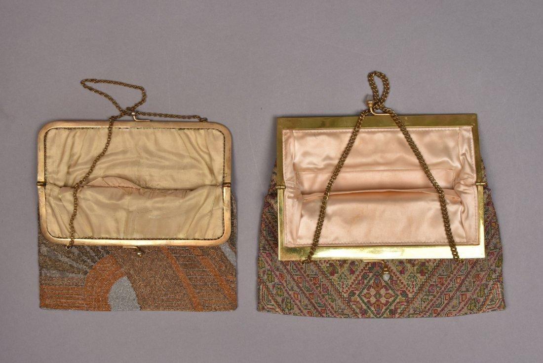 FRENCH ART DECO MICRO-STEEL BEADED BAG, 1920s - 1930s. - 2