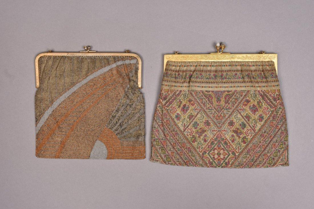 FRENCH ART DECO MICRO-STEEL BEADED BAG, 1920s - 1930s. - 3