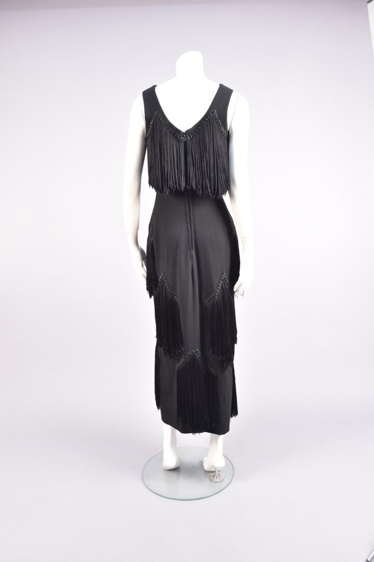 WORTH FRINGED and BEADED DRESS, 1940s - 2