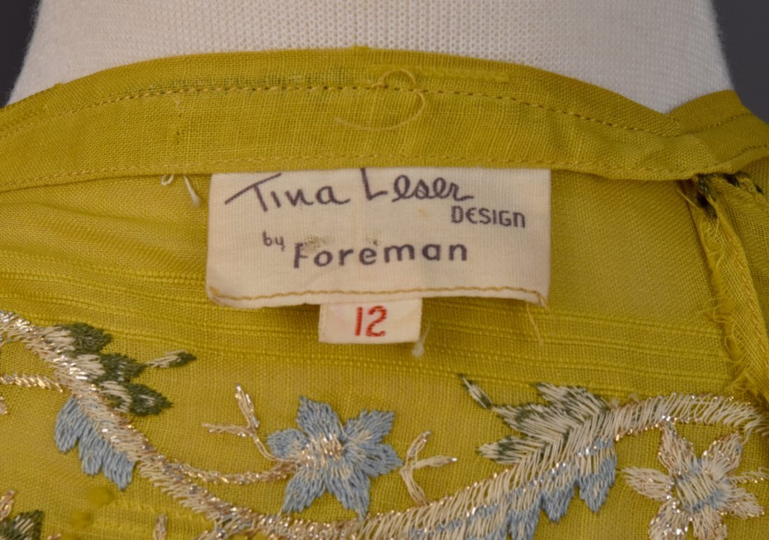TINA LESER EMBROIDERED VOILE DRESS c. 1948 - 6