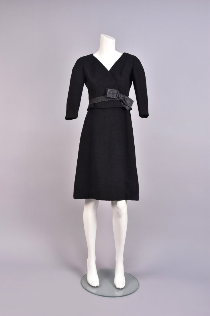 BALENCIAGA WOOL BOUCLE COCKTAIL DRESS, 1950s