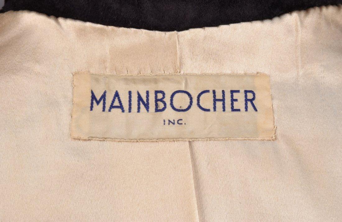 MAINBOCHER VELVET EVENING COAT, 1950s - 5