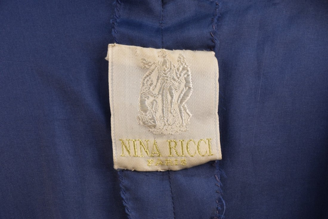 NINA RICCI ASYMMETRIC PRINTED TULLE PARTY DRESS, 1950s. - 4