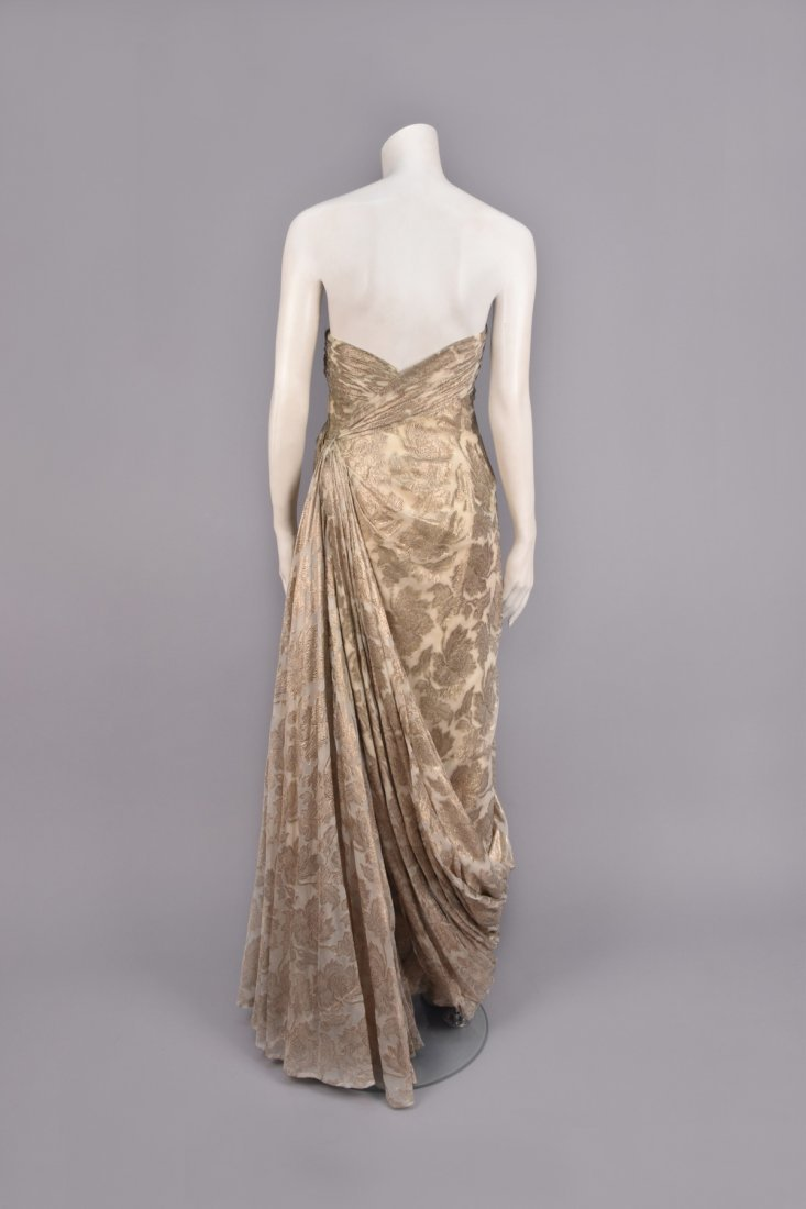 JEAN DESSES ATTRIBUTED BROCADE GOWN, 1950s - 2