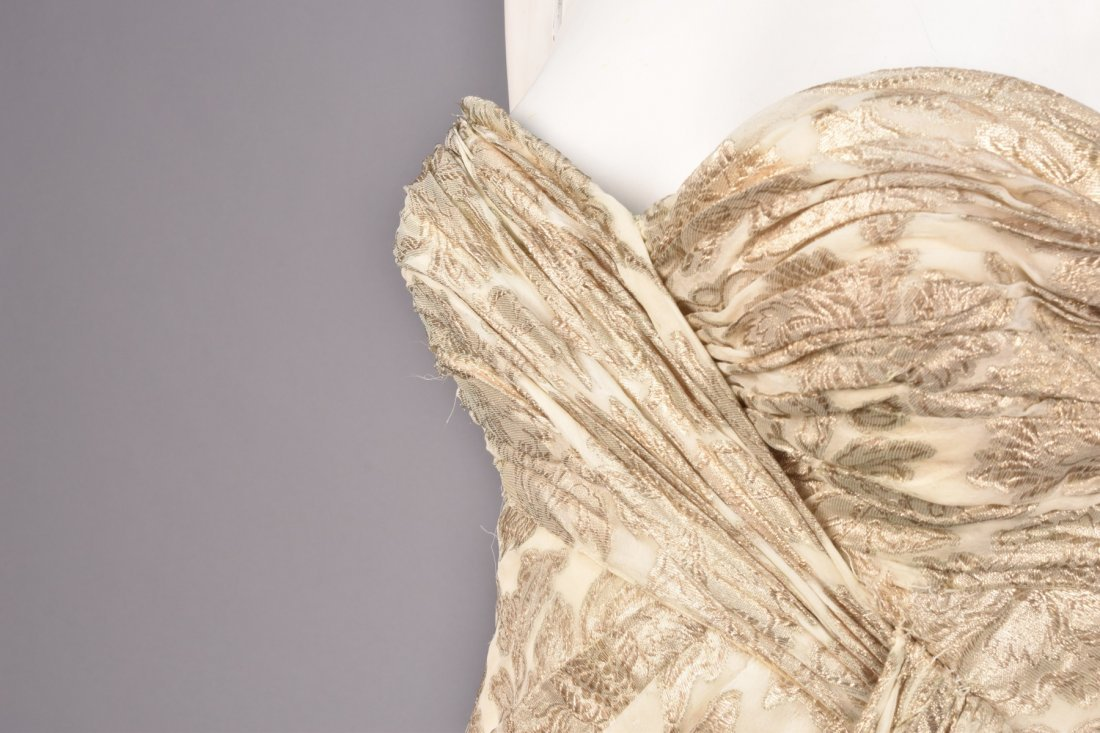 JEAN DESSES ATTRIBUTED BROCADE GOWN, 1950s - 3