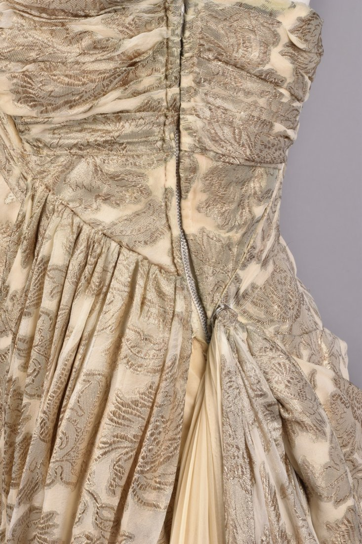 JEAN DESSES ATTRIBUTED BROCADE GOWN, 1950s - 4