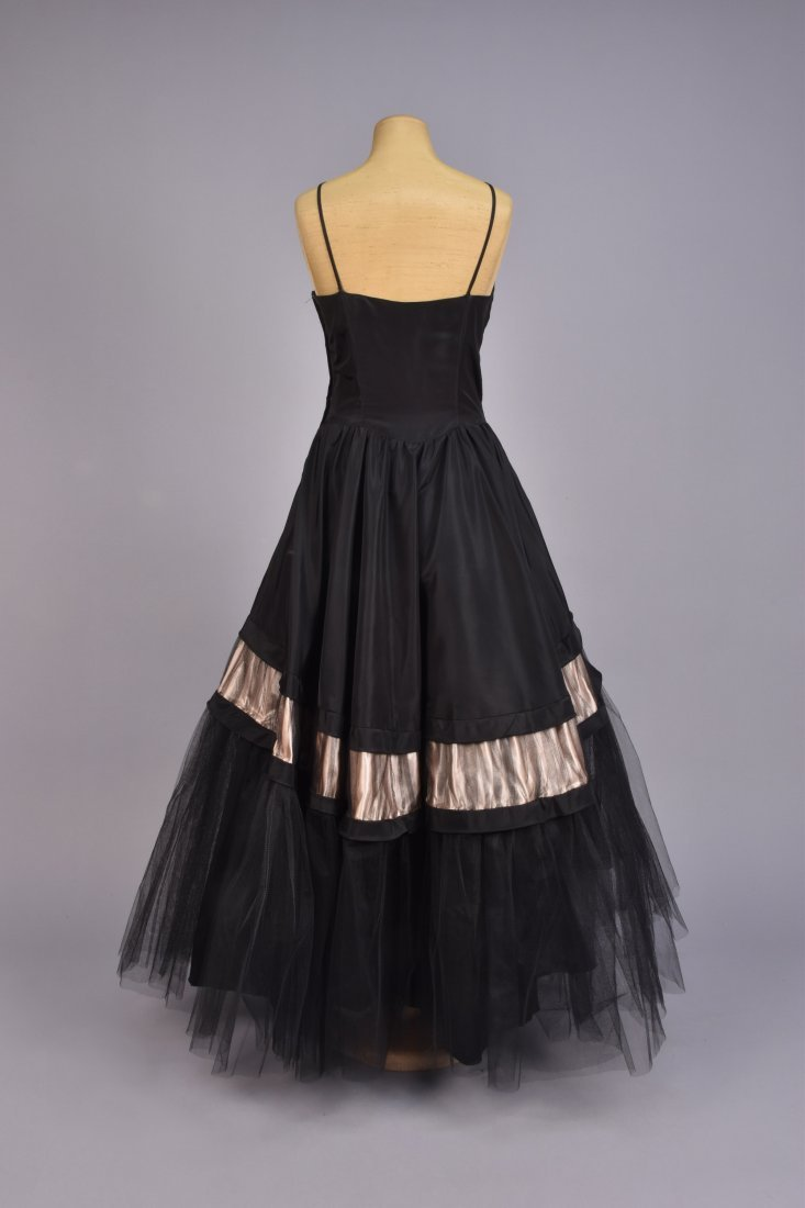 EMMA DOMB TAFFETA and NET PARTY DRESS, 1950s - 2