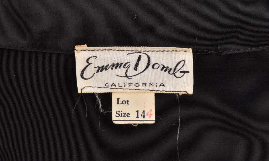 EMMA DOMB TAFFETA and NET PARTY DRESS, 1950s - 4