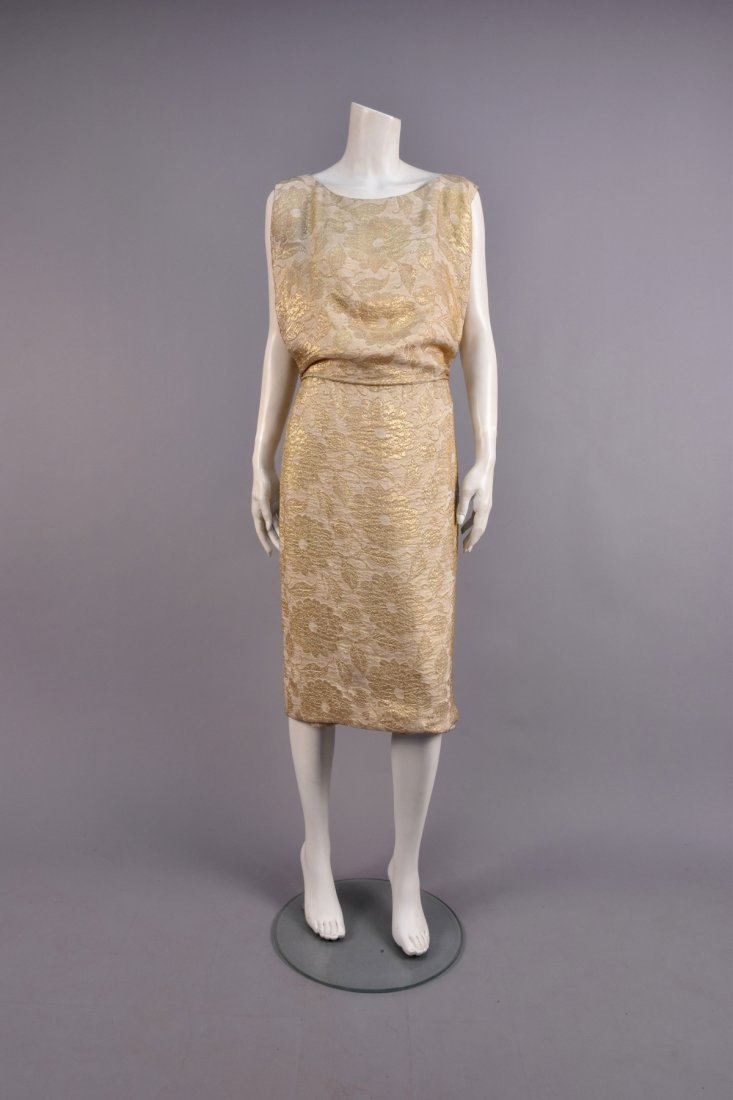 JEAN DESSES COUTURE COCKTAIL DRESS, 1950s.