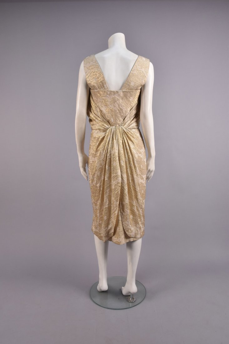 JEAN DESSES COUTURE COCKTAIL DRESS, 1950s. - 2