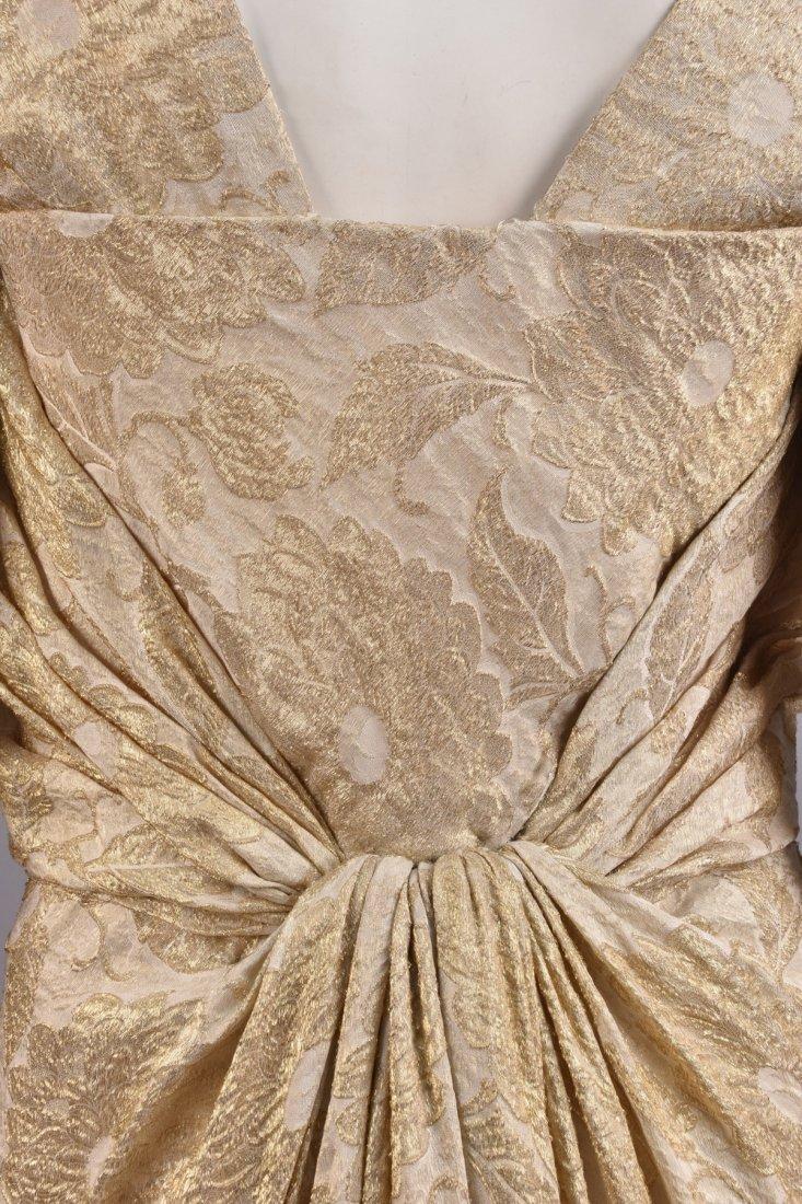 JEAN DESSES COUTURE COCKTAIL DRESS, 1950s. - 4