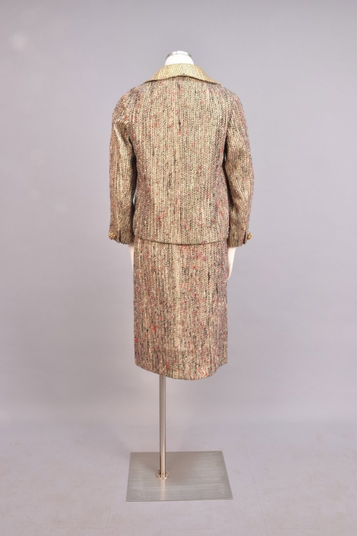 DIOR THREE-PIECE TWEED and METALLIC SKIRT SUIT, 1963 - 3