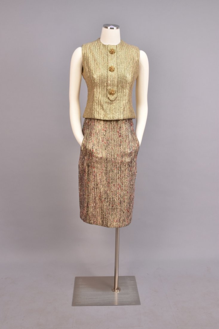 DIOR THREE-PIECE TWEED and METALLIC SKIRT SUIT, 1963 - 4