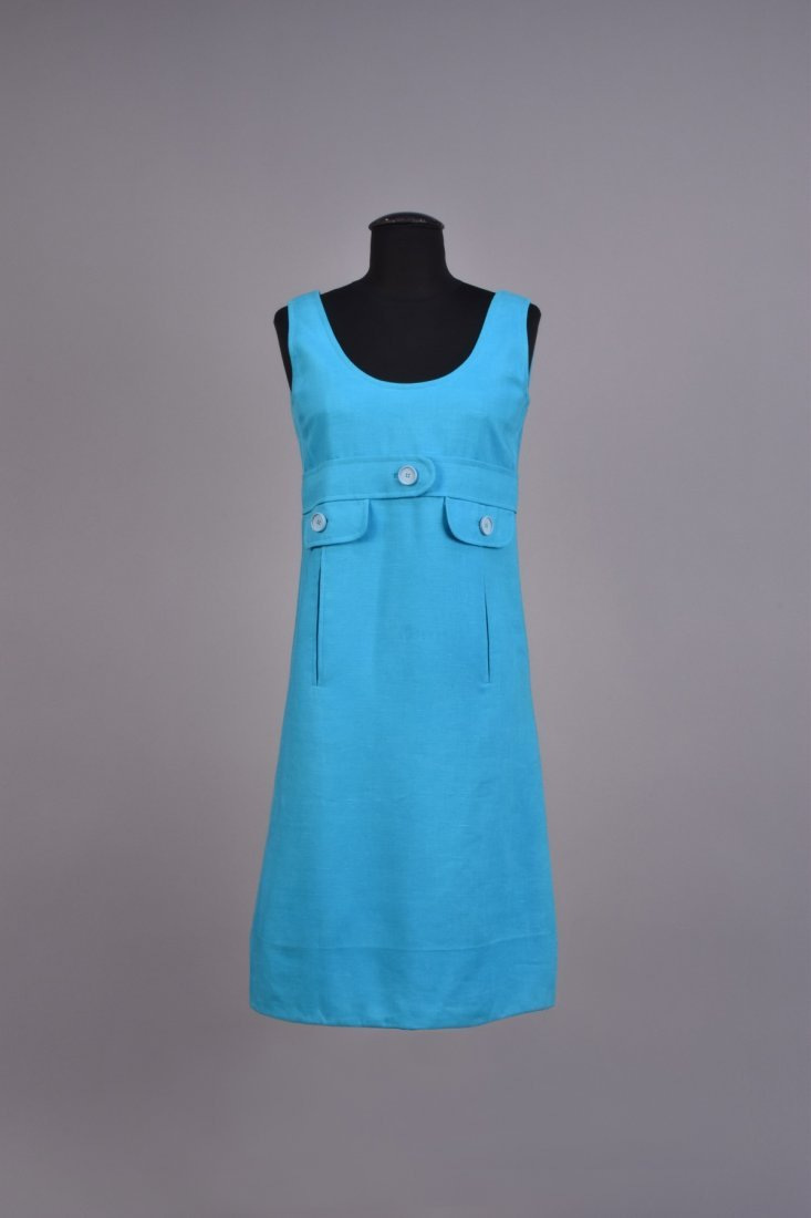 GEOFFREY BEENE LINEN DAY DRESS, 1960s.