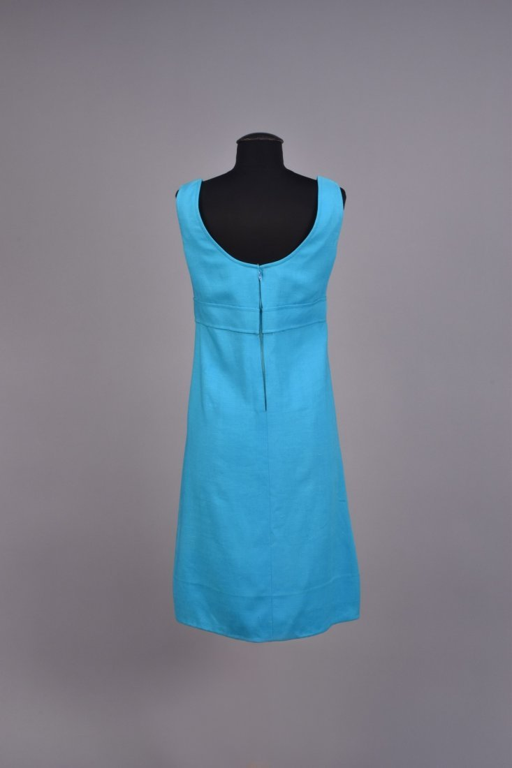 GEOFFREY BEENE LINEN DAY DRESS, 1960s. - 2