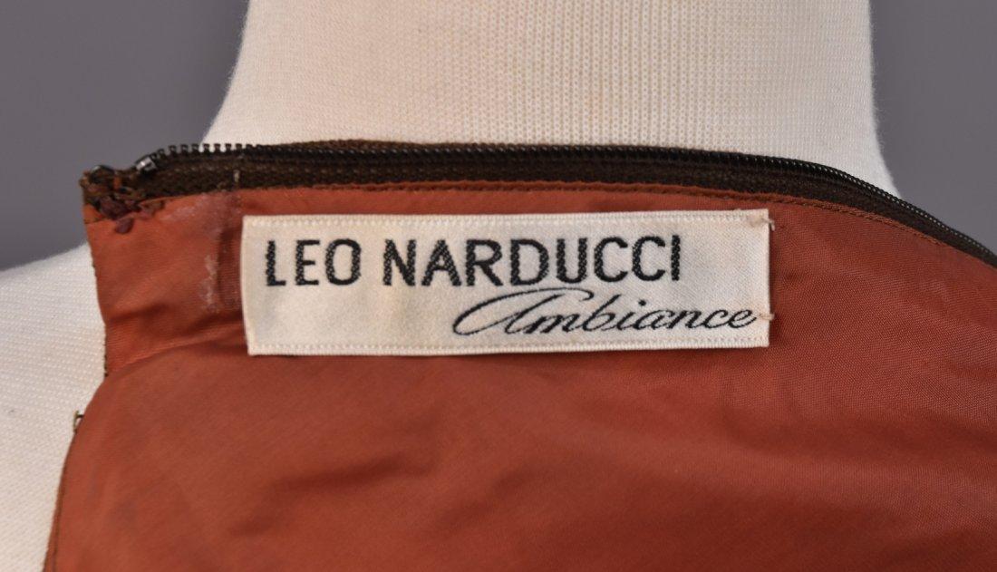 LEO NARDUCCI BELTED LINEN TENT DRESS, 1960s. - 4