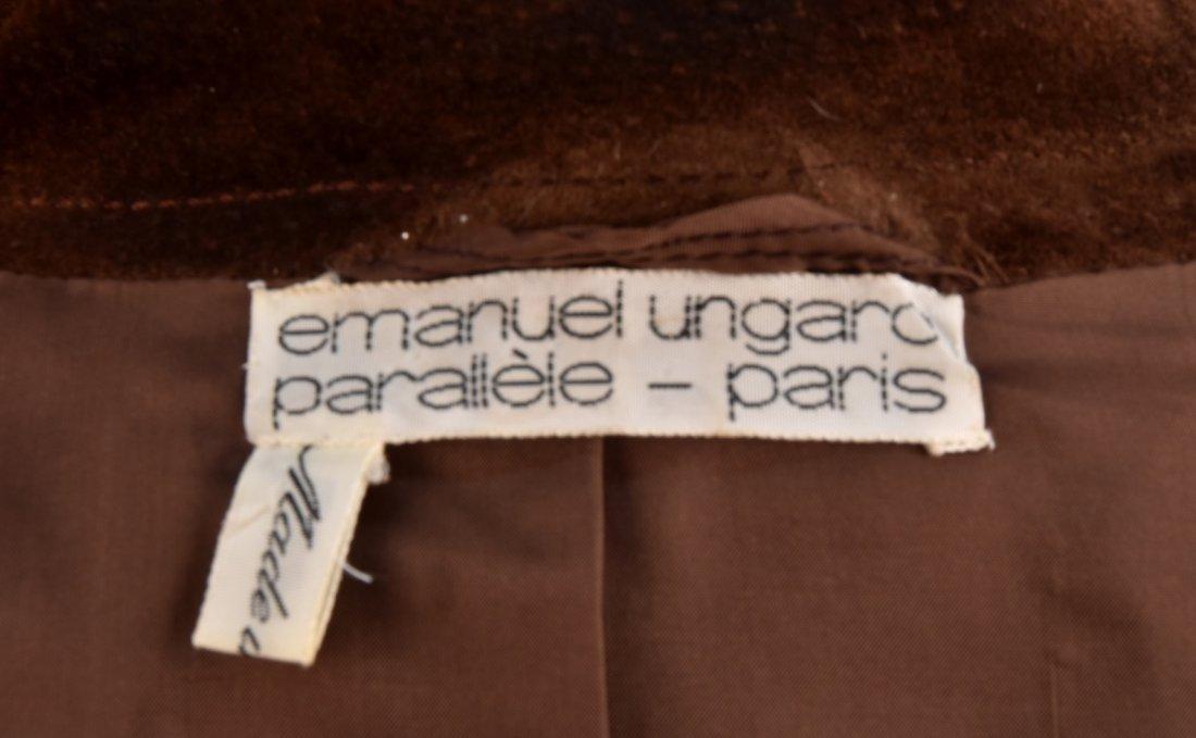 UNGARO PARIS SUEDE SKIRT SUIT, LATE 1960s. - 3