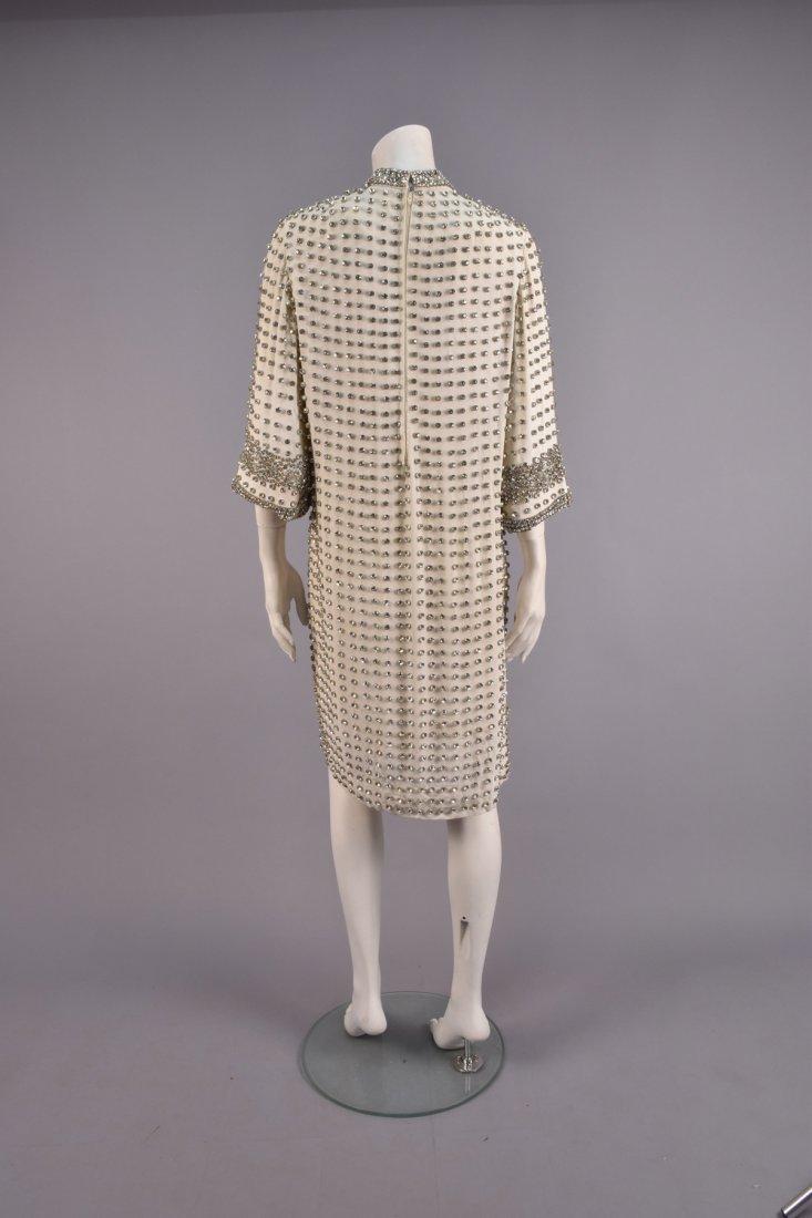 RHINESTONE STUDDED CREPE DRESS, 1960s - 2