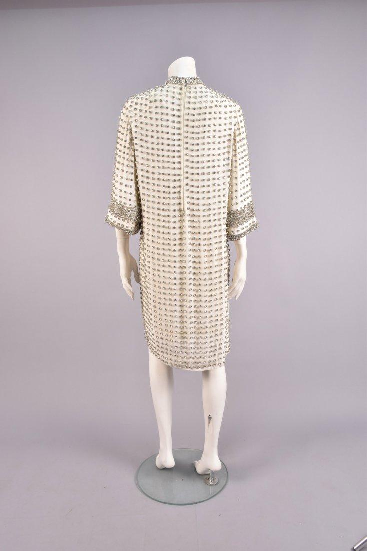 RHINESTONE STUDDED CREPE DRESS, 1960s - 3
