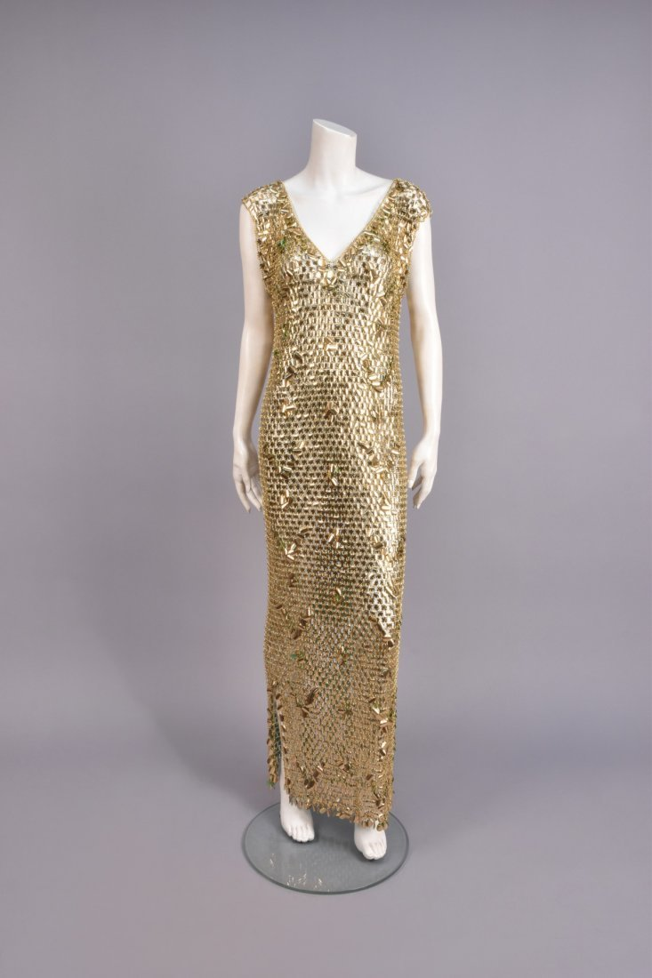 SEQUINED CHAIN MAIL SHEATH, c. 1966