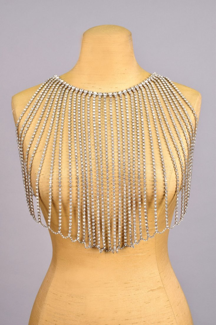RARE BILL SMITH BODY JEWELRY RHINESTONE BODICE, c.