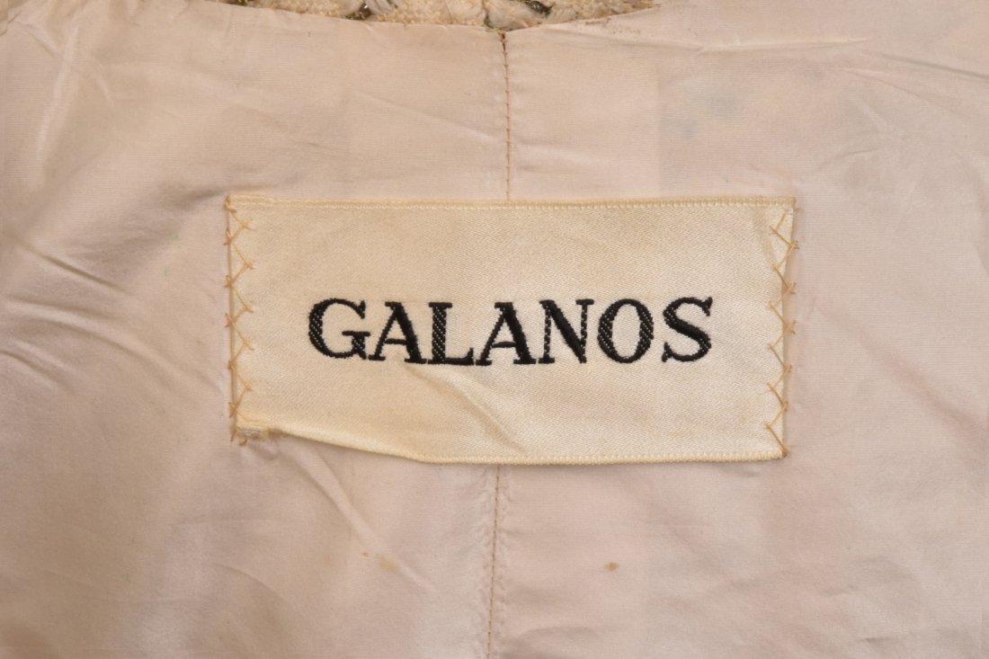 GALANOS WOOL and METALLIC COATDRESS, 1960s. - 4