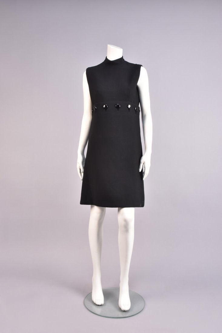 NORELL LITTLE BLACK DRESS with BUTTON-ON SKIRT, 1960s