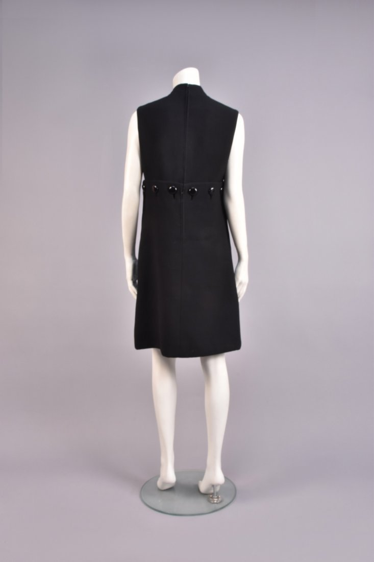 NORELL LITTLE BLACK DRESS with BUTTON-ON SKIRT, 1960s - 2