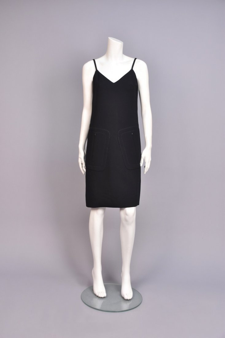 NORELL ATTRIBUTED WOOL DAY DRESS, 1960s