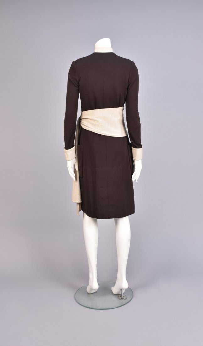 NORELL 2-TONE WOOL DAY DRESS, 1960s - 2