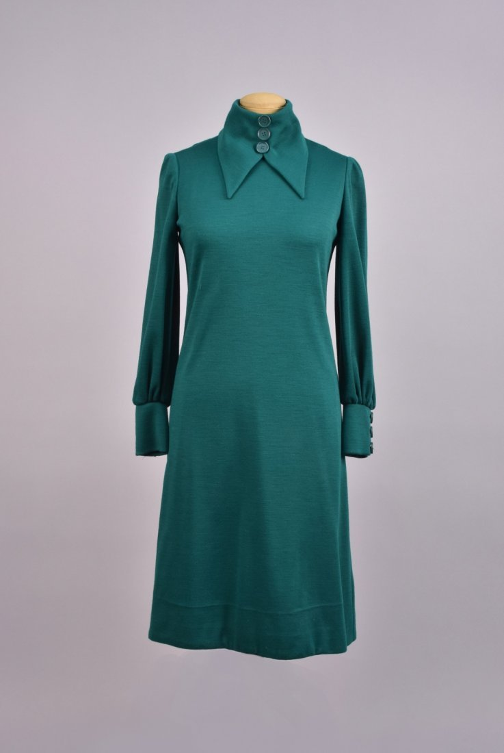 GEOFFREY BEENE WOOL DAY DRESS and COAT, 1960s - 2