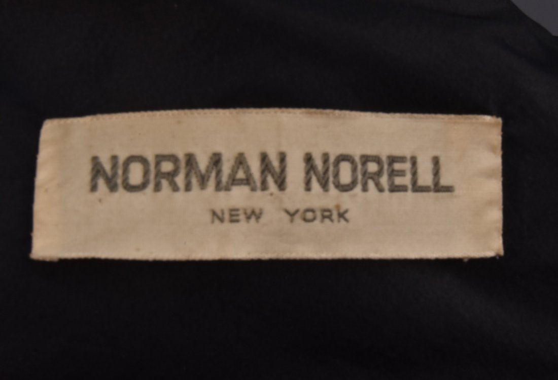 NORMAN NORELL DOTTED SILK DRESS and JACKET, c. 1960. - 5
