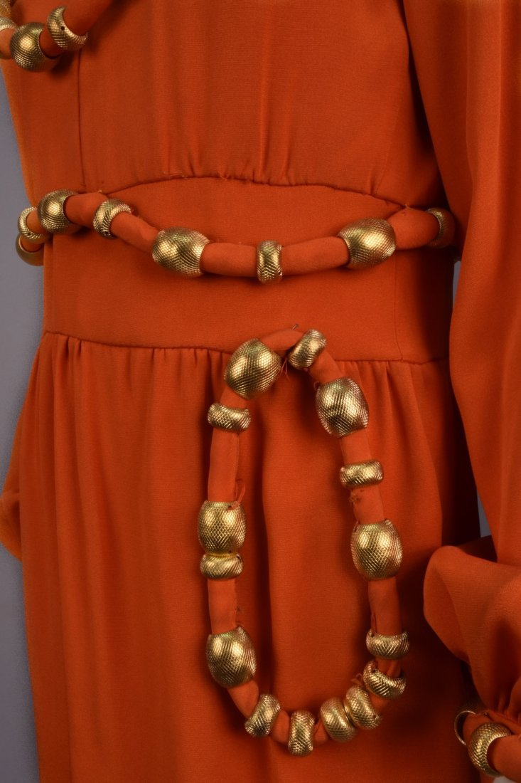 BOOTSY HEARST'S COCKTAIL DRESS with GOLD SWAGS, 1960s - 4