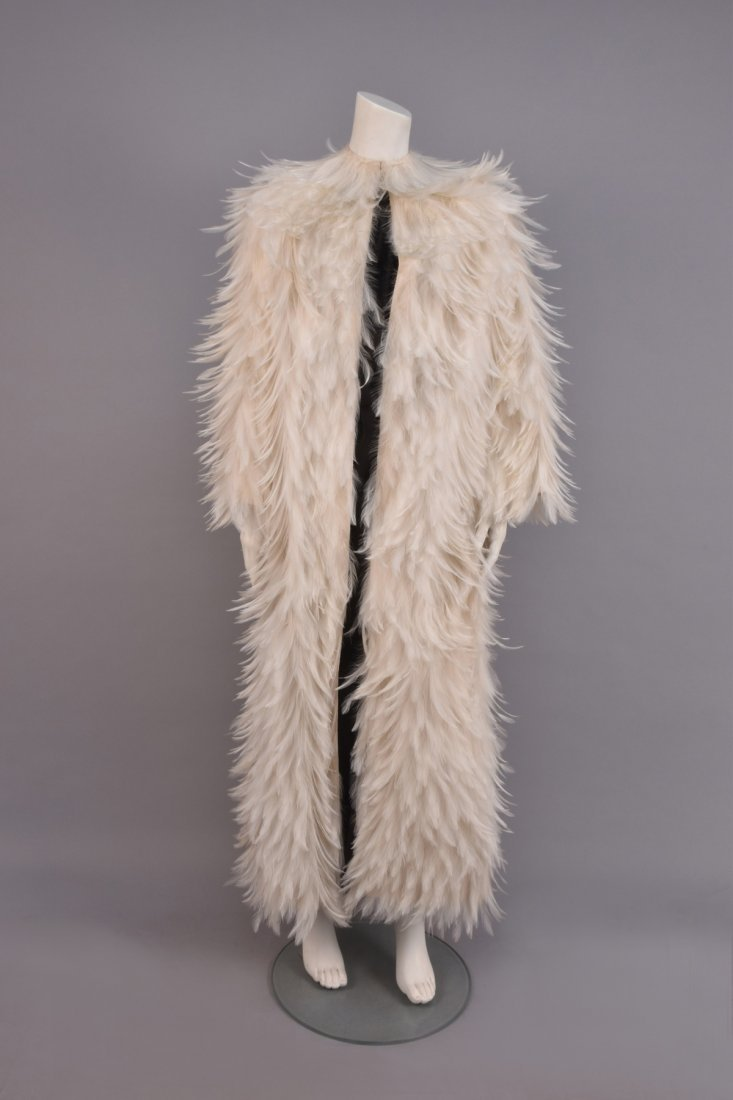 NORMAN NORELL SILK and FEATHER COAT, 1970-1971.