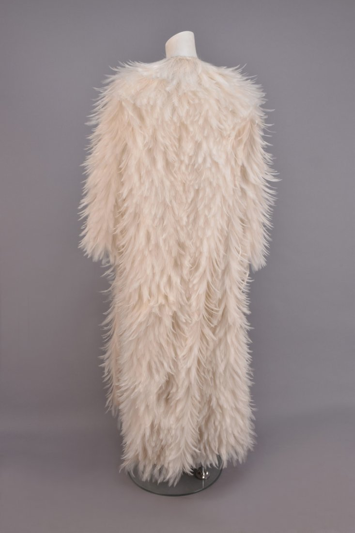 NORMAN NORELL SILK and FEATHER COAT, 1970-1971. - 2