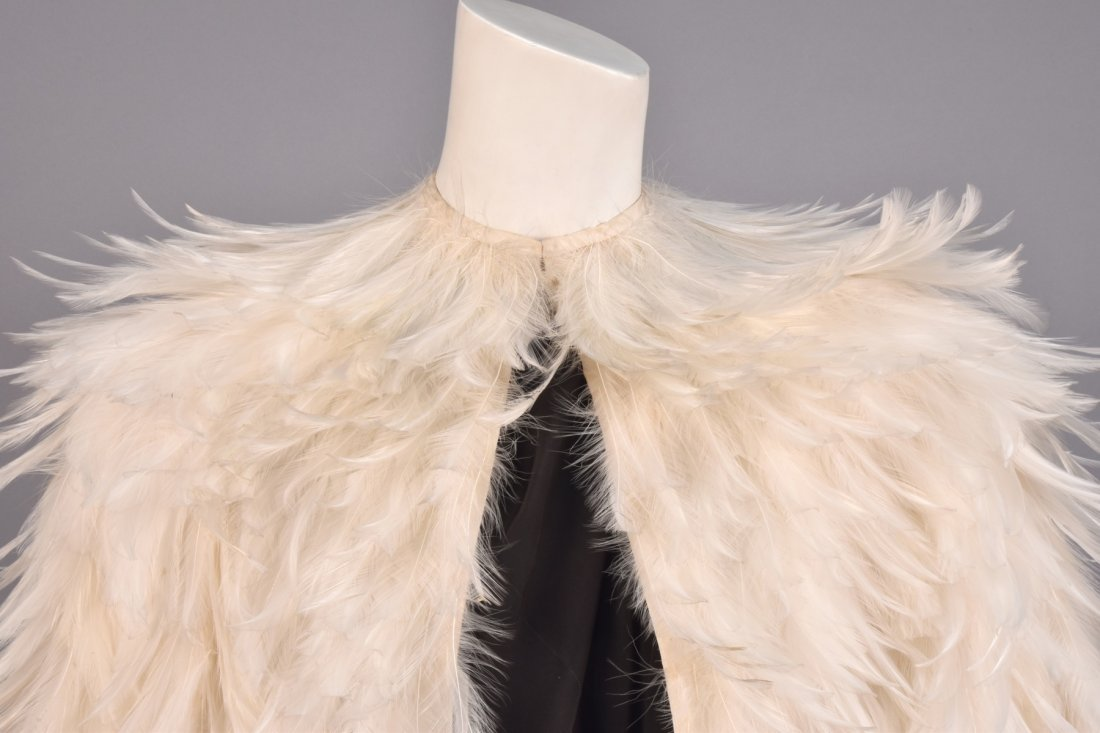 NORMAN NORELL SILK and FEATHER COAT, 1970-1971. - 3