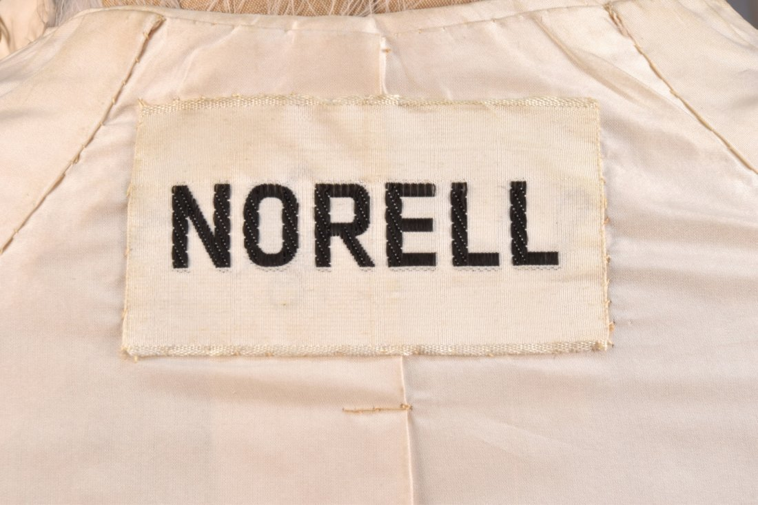 NORMAN NORELL SILK and FEATHER COAT, 1970-1971. - 4