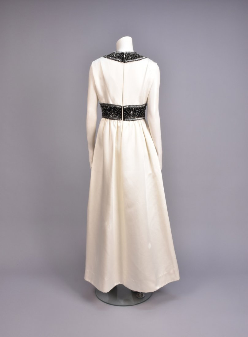 CEIL CHAPMAN EVENING GOWN with BEADED TRIM, 1960s - 2