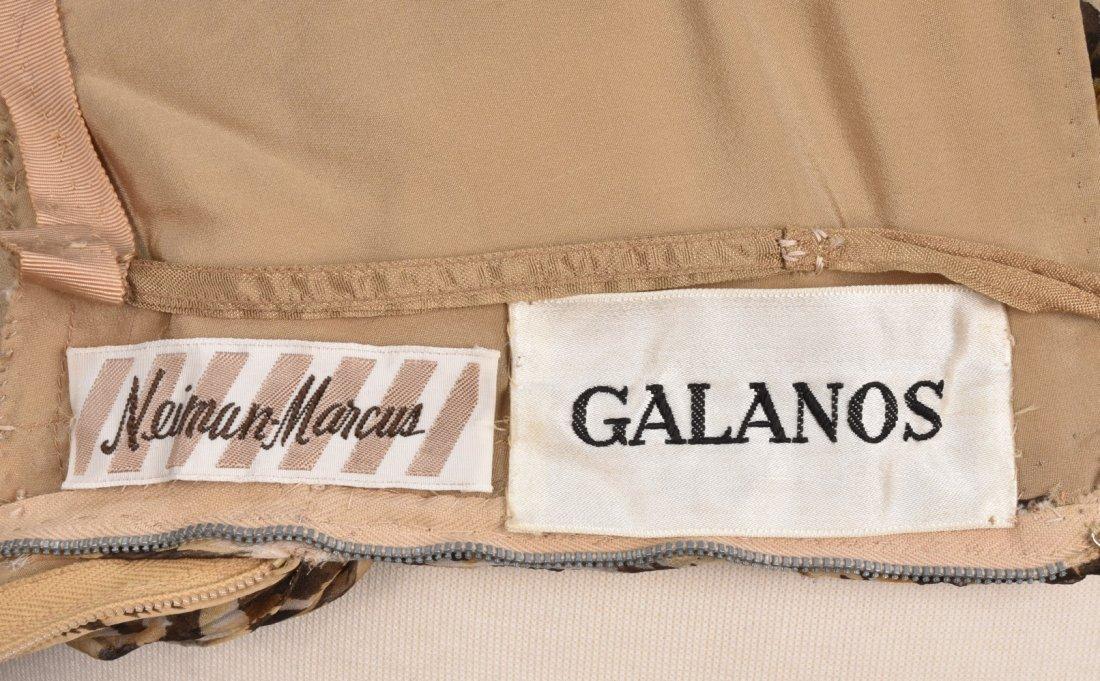 GALANOS ONE-SHOULDER LEOPARD PRINT SILK GOWN, 1960s. - 3