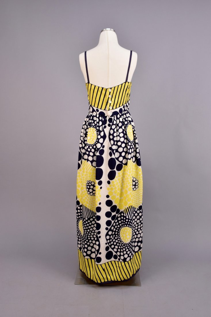 GALANOS PRINTED SILK MAXI and JACKET, 1970s. - 3
