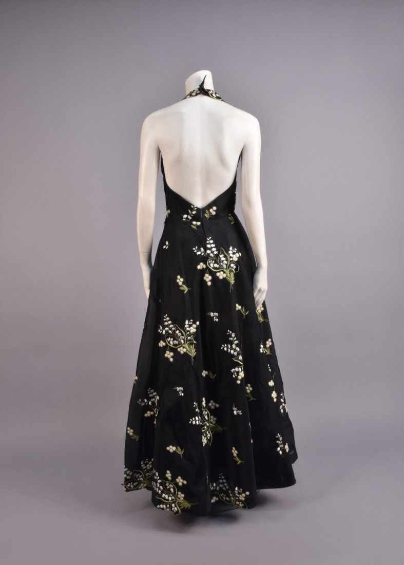 STAVROPOULOS APPLIQUED and EMBROIDERED SILK GOWN - 3