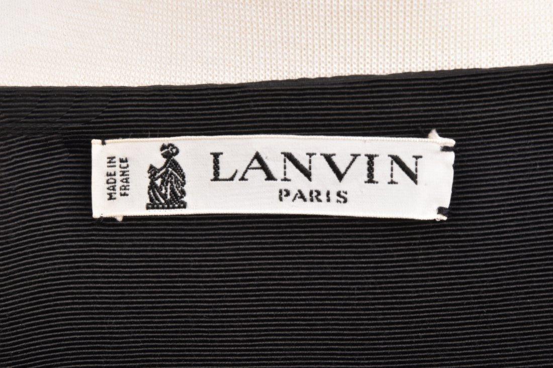 LANVIN PARIS STRAPLESS SILK JUMPSUIT, 1960s. - 6