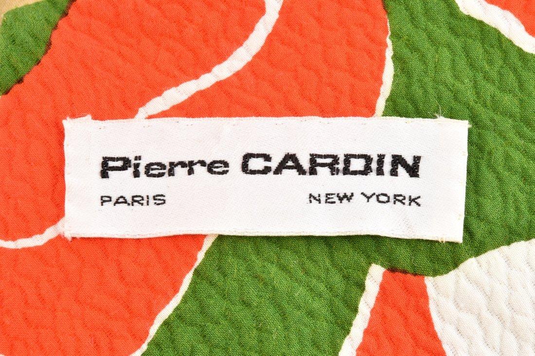 PIERRE CARDIN POPPY PRINT HALTER GOWN, 1960s. - 4