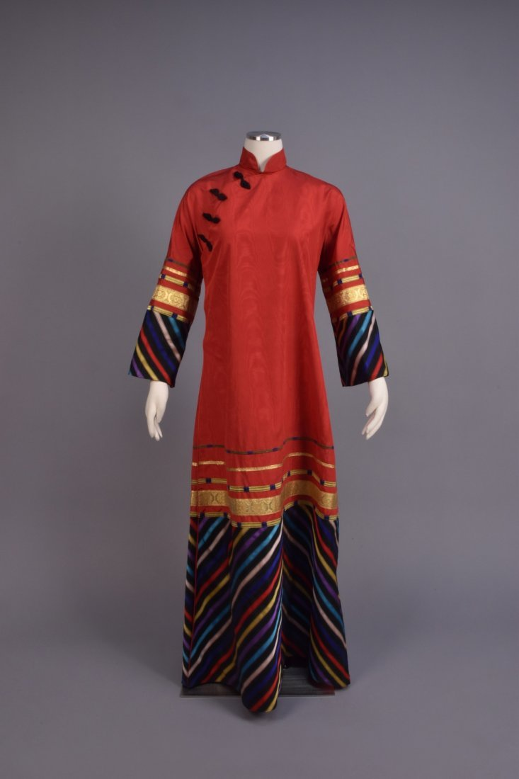 SANT'ANGELO CHINESE-INSPIRED SILK ROBE, 1970s