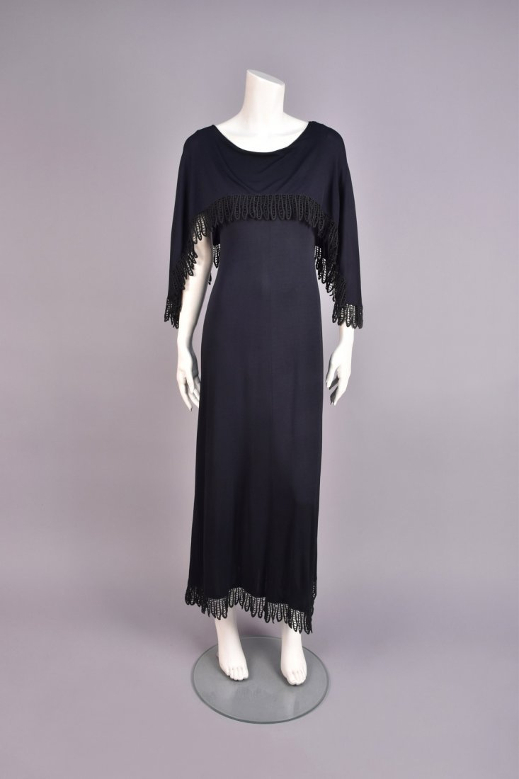 CHRISTIAN DIOR LACE TRIMMED CAPLET GOWN